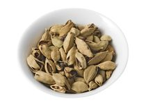Dry cardamom (isolated with path). Royalty Free Stock Photography