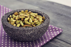 Dry cardamom seeds Royalty Free Stock Photography