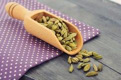 Dry cardamom seeds Stock Photo