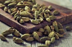 Dry cardamon seeds Stock Photo
