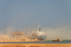 Dry-cargo ship Stock Images