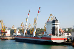 Dry cargo ship. In the port Royalty Free Stock Photos