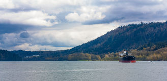 Dry cargo ship in the harbor Royalty Free Stock Image