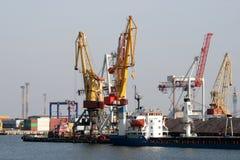 Dry-cargo ship at a mooring Royalty Free Stock Photos