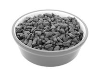 Dry cat biscuits in a pet food bowl Stock Images