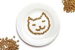 Dry cat food stock image