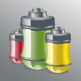 The dry cell battery. Vector illustration dry cell battery vector illustration