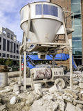 Dry Cement Mixer Silo Stock Images
