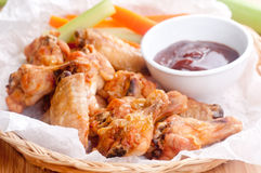 Dry chicken wings with no sauce Stock Photo