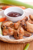 Dry chicken wings with no sauce Stock Photography