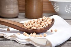 Dry chickpeas Royalty Free Stock Photo