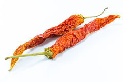 Dry chili peppers Royalty Free Stock Photo