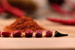 Dry Chilli Peppers Royalty Free Stock Photos