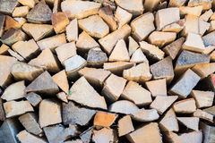 Dry chopped firewood logs Stock Photo