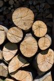 Dry chopped firewood Stock Photo