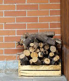 Dry chopped firewood logs in a pile Royalty Free Stock Image