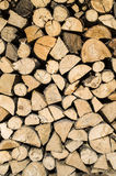 Dry chopped firewood logs in a pile Stock Photos