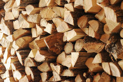 Dry chopped firewood logs in a pile. Stock Image