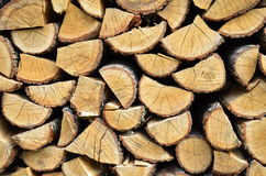 Dry chopped firewood Royalty Free Stock Image