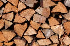 Dry chopped logs Royalty Free Stock Image