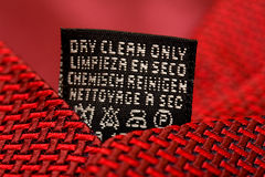 Free Dry Clean Only Royalty Free Stock Photos - 13280308