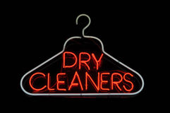 Dry Cleaner Hanger Sign Royalty Free Stock Image