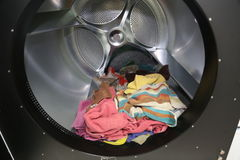 Dry-cleaner- the inside of a big machine to dry towels Stock Images