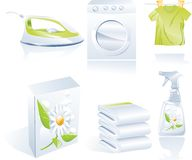 Dry Cleaner S Vector Icon Set Stock Photo