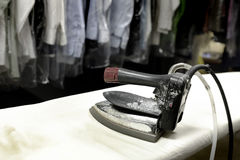Dry Cleaning Iron Pressing Smooth Stock Photos