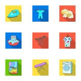 Dry cleaning related icon set Royalty Free Stock Image