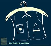 Dry cleaning service concept art royalty free illustration