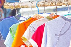 Free Dry Clothes In The Air Royalty Free Stock Image - 32059006