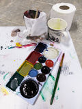Dry Color painting palette Royalty Free Stock Photos