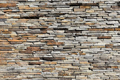 Dry Colorful Stone Wall. Stock Photo