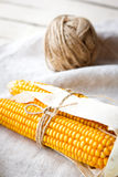 Dry corn cobs Royalty Free Stock Photography