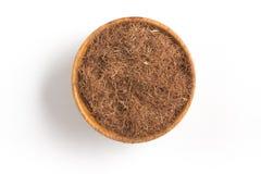 Dry Corn Silk Herb into a bowl. Stigmata Maydis. Dry Corn Silk Herb into a bowl isolated in white background. Stigmata Maydis stock images