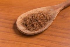 Dry Corn Silk Herb into a spoon. Stigmata Maydis Stock Photos