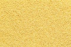 Dry couscous texture. Close up couscous grains background. Top view stock photos