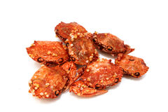Dry crab snack Royalty Free Stock Images