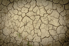 Dry and crack soil ground Royalty Free Stock Photography