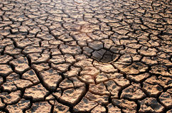 Dry cracked earth Stock Images