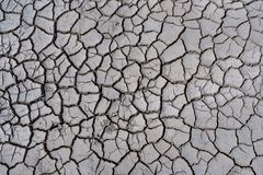 Dry and cracked earth. Abstract natural gray background Royalty Free Stock Photos