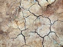 Dry cracked earth background Royalty Free Stock Image