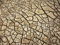 Dry cracked earth background Stock Photos