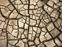 Dry cracked earth background Royalty Free Stock Images