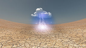 Dry Cracked earth with cloud Royalty Free Stock Photography
