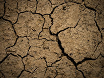 Dry Cracked Earth. Cracked Ground close up in brown colors Royalty Free Stock Photography