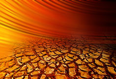 Dry Cracked Earth Hot Background Royalty Free Stock Photography