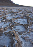 Dry cracked earth in Salt Flats, Death Valley Royalty Free Stock Image