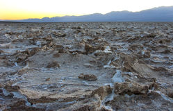 Dry cracked earth in Salt Flats, Death Valley Stock Image